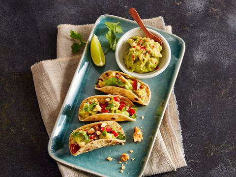 Walnut Avocado Taco with Bell Pepper (vegetarian)