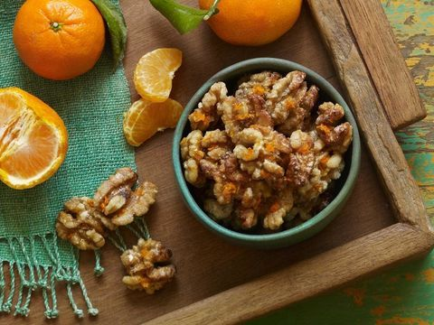 Orange Glazed Walnuts